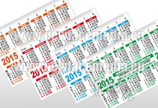 1 000 Визитки или Джобни Календарчета за 2016 година с UV лак от New Face Media - Снимка 6