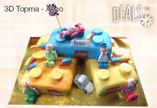 Детска 3D торта с фигурална ръчно изработена декорация от Сладкарница Джорджо Джани! - Снимка 11