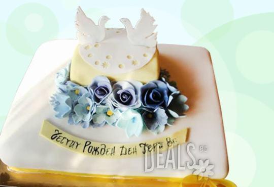 Празнична торта с пъстри цветя, дизайн на Сладкарница Джорджо Джани - Снимка 30