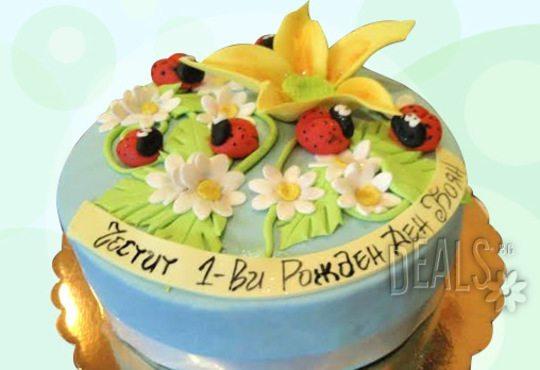 Празнична торта с пъстри цветя, дизайн на Сладкарница Джорджо Джани - Снимка 20