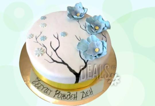 Празнична торта с пъстри цветя, дизайн на Сладкарница Джорджо Джани - Снимка 23