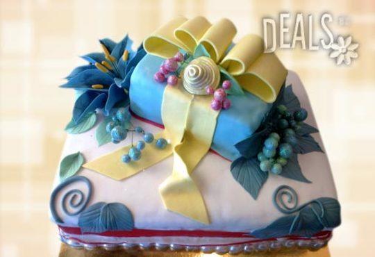 Празнична торта с пъстри цветя, дизайн на Сладкарница Джорджо Джани - Снимка 13