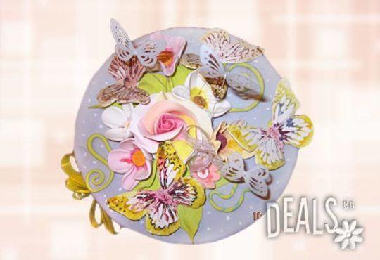 Празнична торта с пъстри цветя, дизайн на Сладкарница Джорджо Джани - Снимка 27