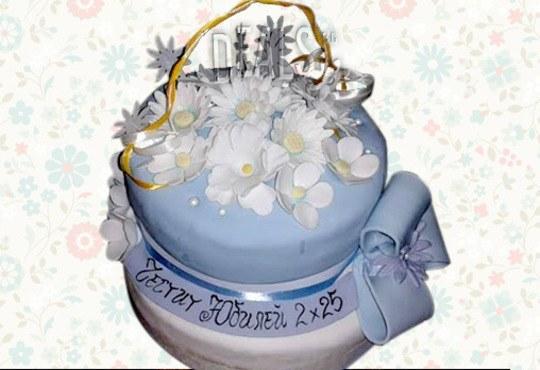 Празнична торта с пъстри цветя, дизайн на Сладкарница Джорджо Джани - Снимка 21