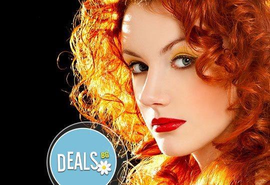 Есен и в косите! Боядисване с боя на клиента, измиване, маска, подстригване и прав сешоар/дифузер от салон Елеганс - Снимка 1