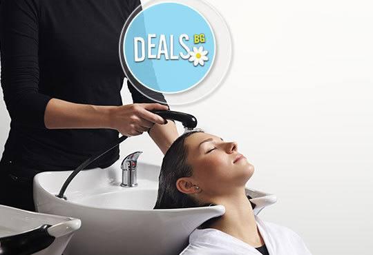 Есен и в косите! Боядисване с боя на клиента, измиване, маска, подстригване и прав сешоар/дифузер от салон Елеганс - Снимка 3