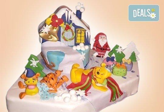 Детска 3D торта с фигурална ръчно изработена декорация от Сладкарница Джорджо Джани - Снимка 1