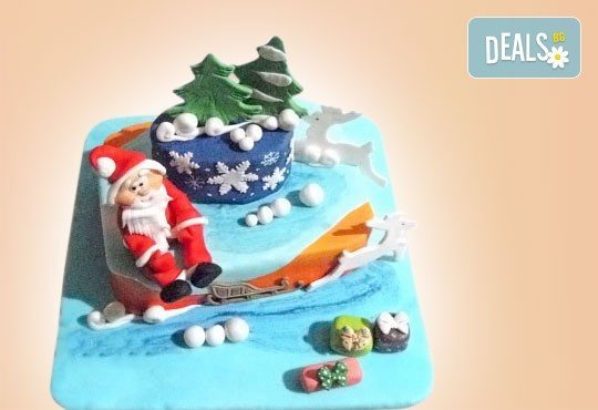 Весела Коледа! 3D Коледно - Новогодишна торта за празниците от Сладкарница Джорджо Джани - Снимка 1