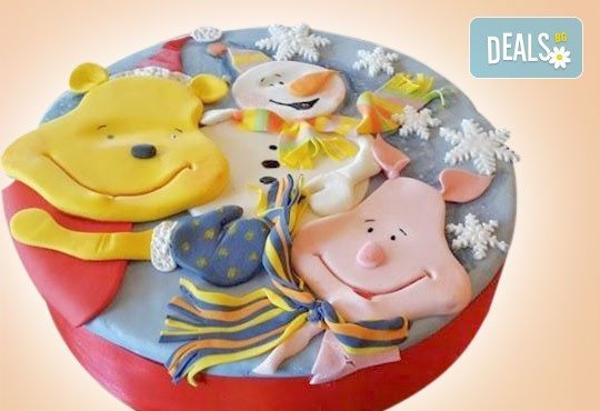 Весела Коледа! 3D Коледно - Новогодишна торта за празниците от Сладкарница Джорджо Джани - Снимка 2
