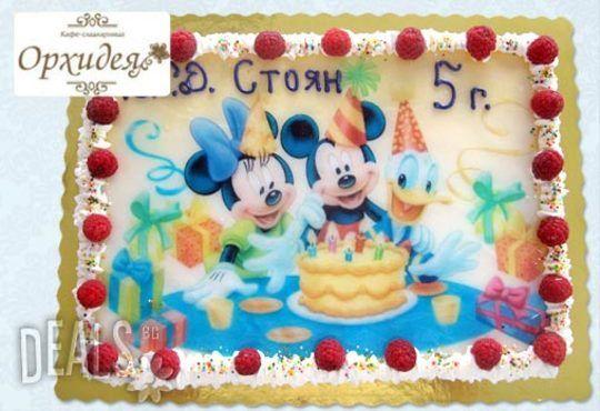 Зарадвайте детето с торта Мики Маус или с фотоснимка на любим приказен герой от Сладкарница Орхидея - Снимка 6