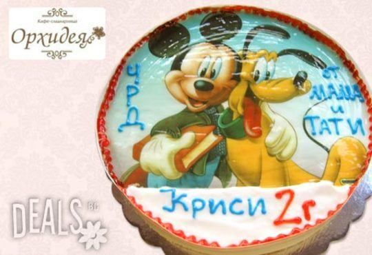 Зарадвайте детето с торта Мики Маус или с фотоснимка на любим приказен герой от Сладкарница Орхидея - Снимка 5