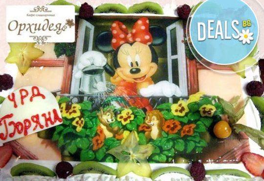 Зарадвайте детето с торта Мики Маус или с фотоснимка на любим приказен герой от Сладкарница Орхидея - Снимка 1