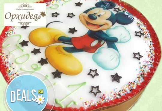 Зарадвайте детето с торта Мики Маус или с фотоснимка на любим приказен герой от Сладкарница Орхидея - Снимка 2