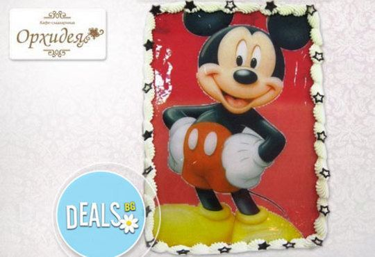 Зарадвайте детето с торта Мики Маус или с фотоснимка на любим приказен герой от Сладкарница Орхидея - Снимка 3