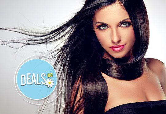 Терапия за коса по избор, инфраред преса, оформяне на прическа със сешоар и подарък: лакиране в студио Мелинда! - Снимка 1