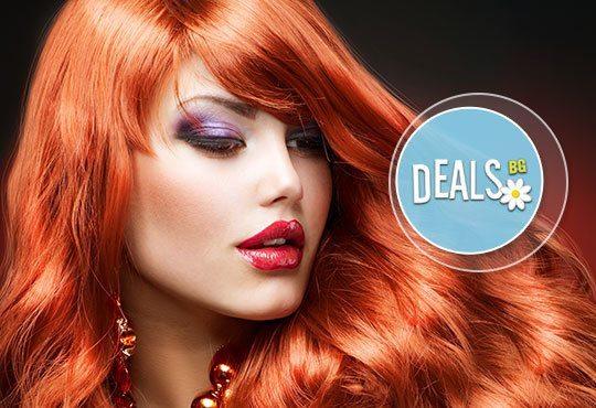 Боядисване с L'Oréal Matrix, терапия според типа коса с инфраред преса и оформяне със сешоар в салон Мелинда! - Снимка 3