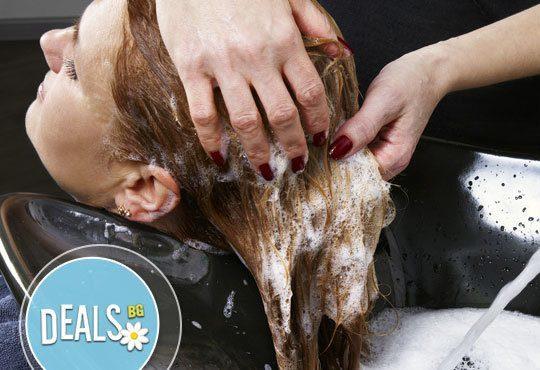 Подсртигване, измиване, терапия по избор - арганова, кератинова или дълбоко-хидратираща и сешоар от ADI'S Beauty & SPA - Снимка 2