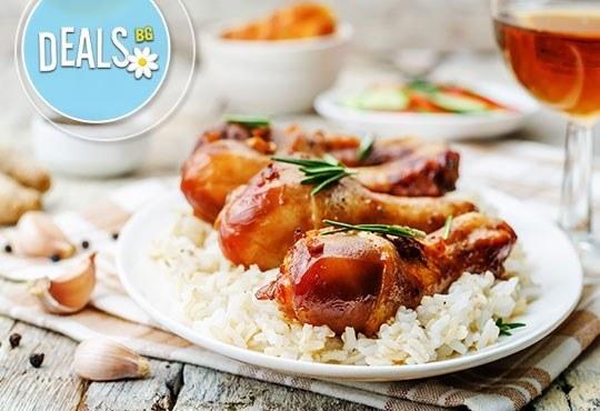 Обяд 2 в 1 в Ресторант-механа Мамбо! Супа и готвено ястие по избор от богато меню на деня на супер цена! - Снимка 3