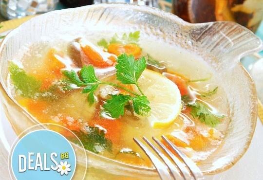 Обяд 2 в 1 в Ресторант-механа Мамбо! Супа и готвено ястие по избор от богато меню на деня на супер цена! - Снимка 2
