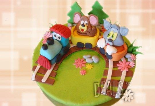 Детска АРТ торта с фигурална ръчно изработена декорация с любими на децата герои от Сладкарница Джорджо Джани - Снимка 7