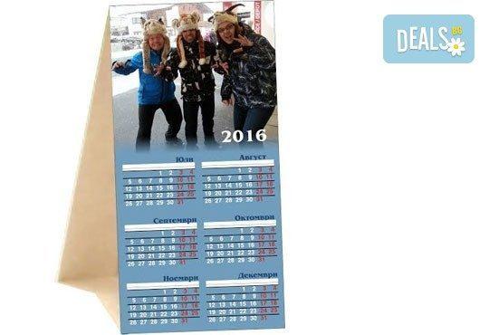 За новата година! ШЕСТ броя календара пирамидки за 2016-та с две Ваши снимки от Офис 2 - Снимка 1