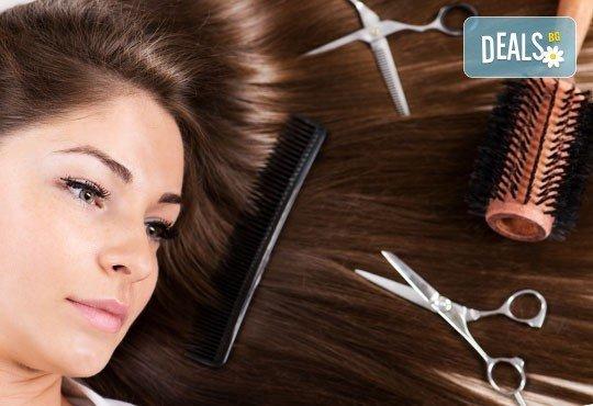 Нова прическа! Подстригване, подхранваща маска, подсушаване и бонус в салон за красота Виктория! - Снимка 3