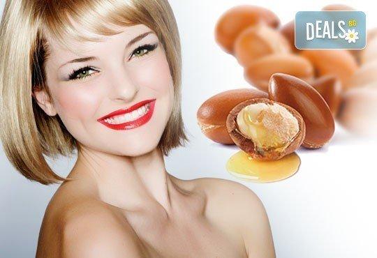 Забележителна коса! Подстригване + арганова терапия и стилизиране на прическа със сешоар в Wave Studio-НДК - Снимка 1