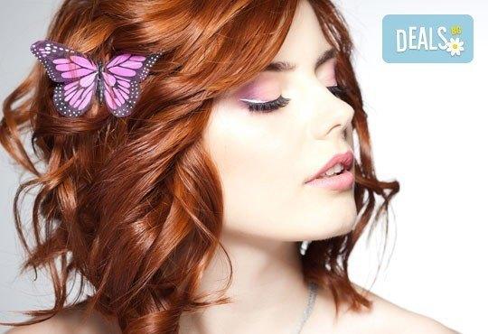 Вашият нов цвят! Боядисване с боя на клиента, терапия с KEUNE, терапия със серум + прическа в Miss Beauty - Снимка 1