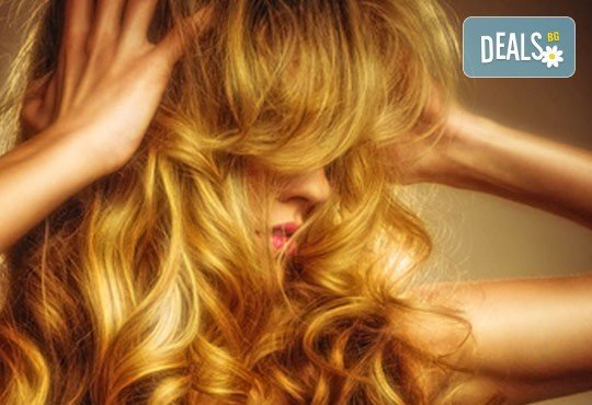 Инфраред терапия с протеинов еликсир за къса или дълга коса, оформяне с преса от Дерматокозметичен център Енигма - Снимка 2