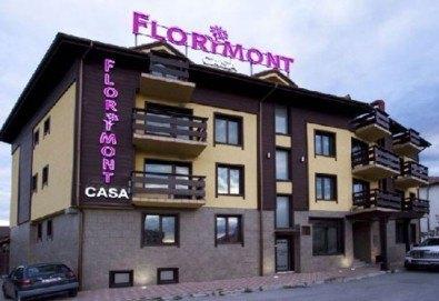Зимна почивка във Флоримонт Каса 3*, Банско: 1 нощувка със закуска, вечеря и СПА, период по избор от Молина Травел