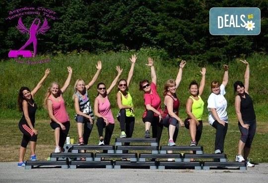 5 или 10 тренировки по избор - Pilates, Steel Tonic, Fitt Ball или Step Aerobic от Божествени тела-Аеробик спорт! - Снимка 4