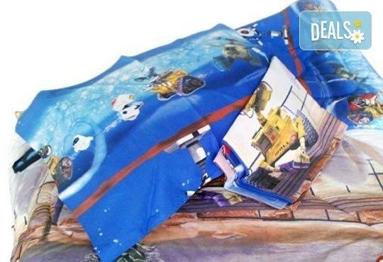 Направете страхотен подарък на Вашето дете за Коледа! Единичен спален комплект ''Уоли'' с олекотена завивка от ЕСА Корпорация! - Снимка 2