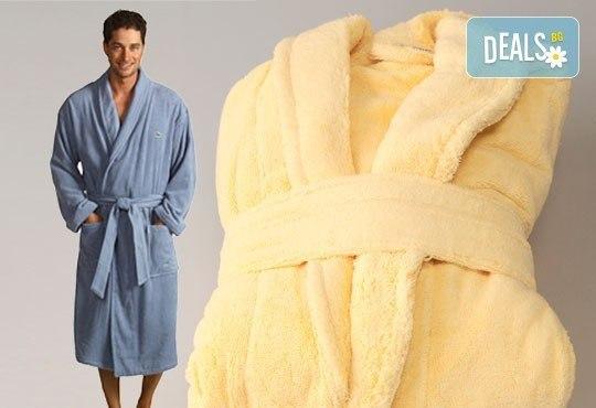 За Новата година - подарете си мек и удобен халат за баня с шал яка, 100% памук, 450 г/м2, от ЕСА Корпорация - Снимка 1