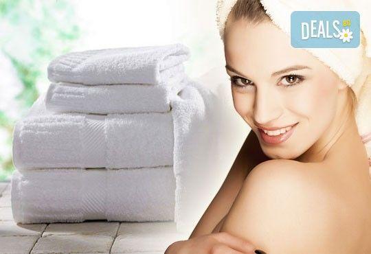 За Новата година - качество без компромис! Хавлиена кърпа, 100 х150 см, 100% памук, 450 г/м2, бял цвят от ЕСА Корпорация - Снимка 1