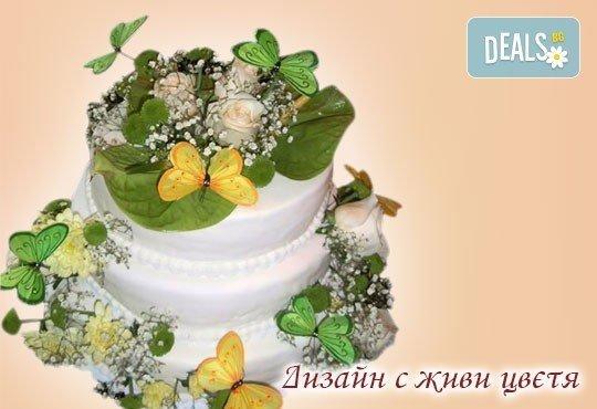 Голяма сватбена торта 60, 80 или 100 парчета с ръчно изработена декорация от Сладкарница Джорджо Джани - Снимка 11