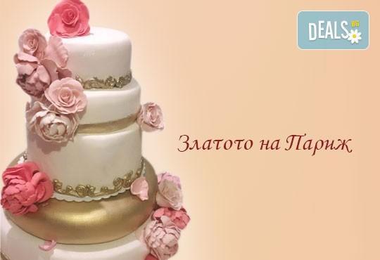 Голяма сватбена торта 60, 80 или 100 парчета с ръчно изработена декорация от Сладкарница Джорджо Джани - Снимка 3