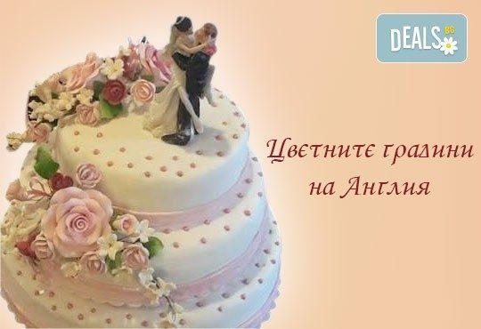 Голяма сватбена торта 60, 80 или 100 парчета с ръчно изработена декорация от Сладкарница Джорджо Джани - Снимка 12