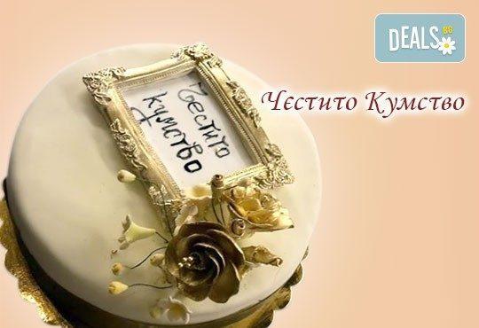 Голяма сватбена торта 60, 80 или 100 парчета с ръчно изработена декорация от Сладкарница Джорджо Джани - Снимка 13