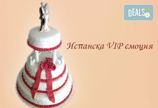 Голяма сватбена торта 60, 80 или 100 парчета с ръчно изработена декорация от Сладкарница Джорджо Джани - Снимка 5