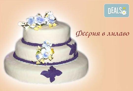 Голяма сватбена торта 60, 80 или 100 парчета с ръчно изработена декорация от Сладкарница Джорджо Джани - Снимка 6