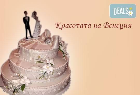 Голяма сватбена торта 60, 80 или 100 парчета с ръчно изработена декорация от Сладкарница Джорджо Джани - Снимка 8