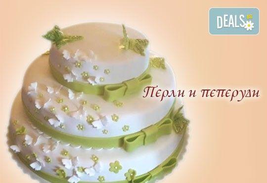 Голяма сватбена торта 60, 80 или 100 парчета с ръчно изработена декорация от Сладкарница Джорджо Джани - Снимка 10