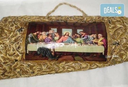 Направете красив и оригинален подарък! Репродукция на икона, изработена върху керемида, по избор от Арт Магазин - Снимка 2