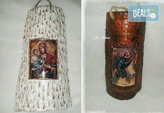 Направете красив и оригинален подарък! Репродукция на икона, изработена върху керемида, по избор от Арт Магазин - Снимка 4