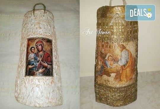 Направете красив и оригинален подарък! Репродукция на икона, изработена върху керемида, по избор от Арт Магазин - Снимка 5