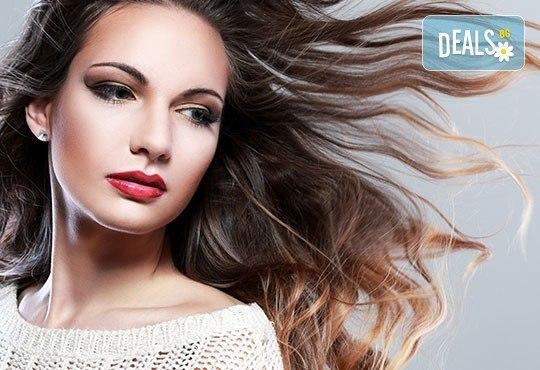 Подстригване, измиване с висок клас продукти, маска според типа коса, стилизиращ продукт и подсушаване в салон Дежа Вю - Снимка 3