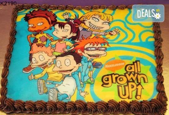 Запомнящ се рожден ден! Вкусна торта /избор от 29 картинки/ и пълнеж по избор от Виенски салон Лагуна! Предплати 1лв! - Снимка 5