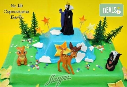 Детска торта с фигурка и пълнеж по избор + кутия, надпис и свещичка от Сладкарница Лагуна!Предплати сега! - Снимка 13