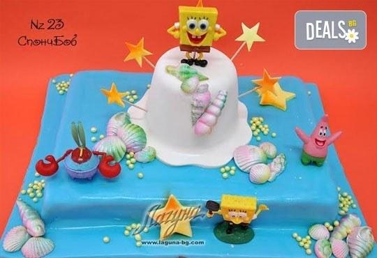 Детска торта с фигурка и пълнеж по избор + кутия, надпис и свещичка от Сладкарница Лагуна!Предплати сега! - Снимка 20