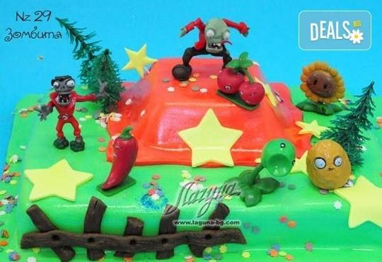 Детска торта с фигурка и пълнеж по избор + кутия, надпис и свещичка от Сладкарница Лагуна!Предплати сега! - Снимка 25